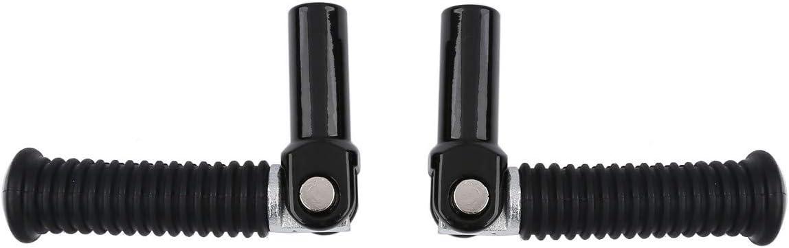 XFMT Black Passenger Foot pegs Footrests For Harley Softail Cross Bones FLSTSB 08-11 Replaces Harley Davidson part 50932-08