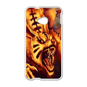 Naruto art HTC One M7 Cell Phone Case White Exquisite gift (SA_613715)