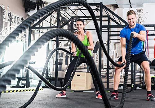 Intbuying Rope Battle Ropes Workout Training Exercise Jump Exercises Gym Fitness