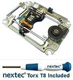 New - Sony PS3 Laser Lens + Deck (KES-450D/ KES-450DAA/ KEM-450D/ KEM-450DAA) + Nextec® Torx T8 Security Screwdriver