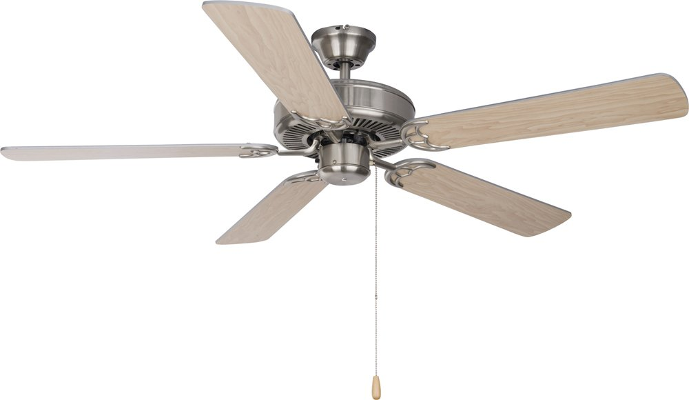 Maxim Lighting 89905SN, Basic-Max 52'' Ceiling Fan, Satin Nickel