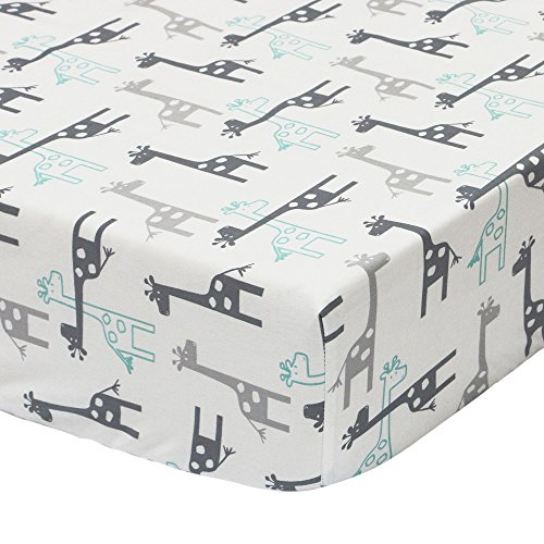 Uptown Giraffe Fitted Crib Sheet by The Peanut Shell