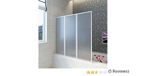 Mampara de ducha, pared de bañera plegable, mampara de ducha, mampara de ducha, paneles de 3 puertas plegables, de aluminio, 117 x 120 cm: Amazon.es: Bricolaje y herramientas