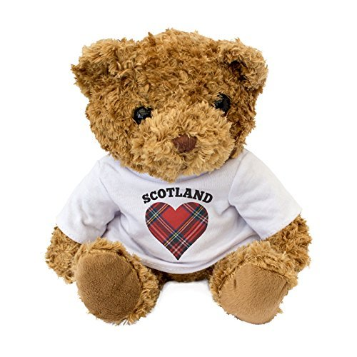 NEW - Scotland Tartan Heart Teddy Bear - I Love Scotland - Gift Present