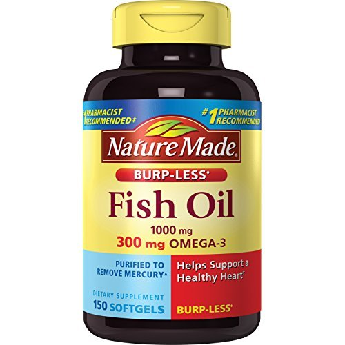 Nature Made Burpless Fish Oil 1000 Mg W  Omega 3 300 Mg Softgels 150 Ct