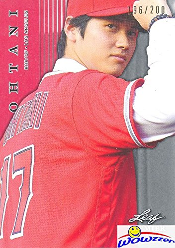 SHOHEI OHTANI 2018 Leaf Premier Rookie #PR1 RED PARALLEL SHORTPRINT ROOKIE Sequentially Numbered out of 200 Los Angeles Angels! Limited Edition Parallel MINT ROOKIE Card of Japans Babe (Numbered Mint)