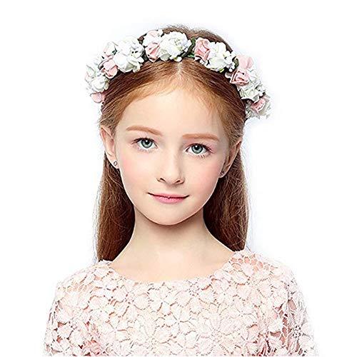 Girl Wreath - HOMAGIC2WE Flower Headband Floral Crown Wedding Festivals Garland for Flower Girl
