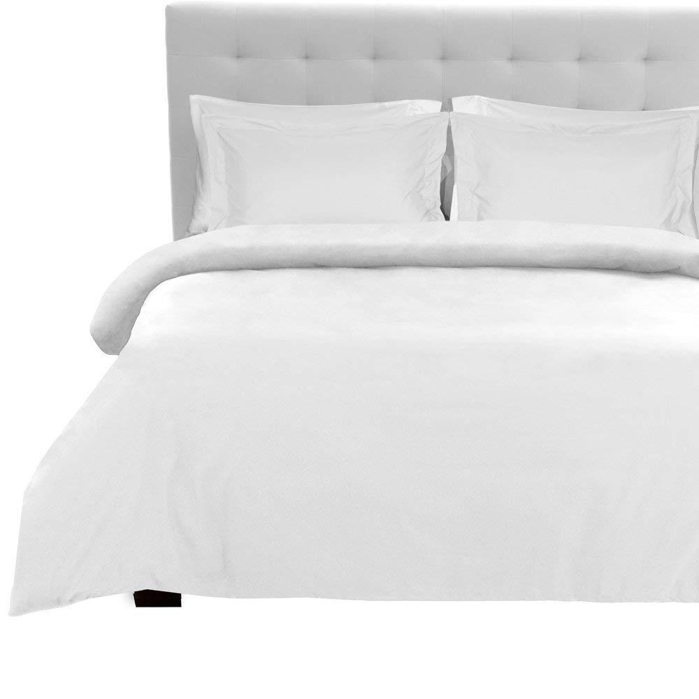 Tula Linen Fadendichte 1200 4-Bettlaken-Set (weiß massiv, UK Super King Größe 180 x 200 cm – (6 ft x 6 ft 6 in), Pocket Größe 30 cm) 100% ägyptische Baumwolle Premium Qualität