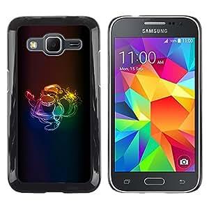 TopCaseStore / la caja del caucho duro de la cubierta de protección de la piel - Xmas Neon Colors Santa Claus Christmas - Samsung Galaxy Core Prime SM-G360