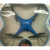 SYR-WIFI and HD Camera four-axis Quadcopter 4CH 2.4GHz 6 Axis Gyro Drones RC remote control 360 Degree Roll-Over with SD Card Helicopter -Blue