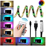 Braudel USB LED Strip Light TV Accessories BackLight RGB Lights 5V USB Remote Control Desktop PC Multi Color Light