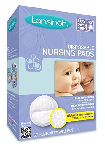 Lansinoh 20265 Disposable Stay Dry Night and Day, 60 pads