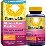 Renew Life Women's Probiotic - Ultimate Flora Probiotic Women's Care, Shelf Stable Probiotic Supplement - 50 Billion - 60 Vegetable Capsules (Packaging May Vary)