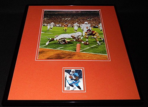 Vince Young Signed Framed 2006 Rose Bowl 16x20 Photo Display Texas (Texas Longhorns 2006 Rose)