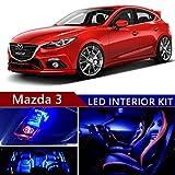 mazda 3 blue interior lights - Mazda 3 2010-2017 LED Premium Blue Light Interior Package Kit ( 8 pcs )