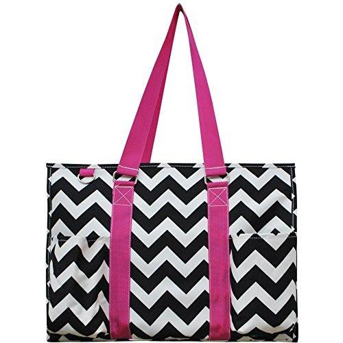 Hot Pink Black Diaper Bags - 6