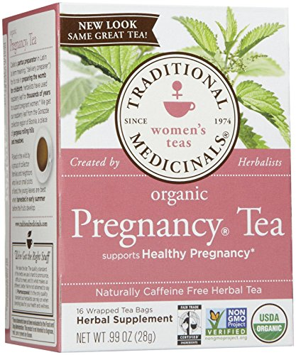 Traditional Medicinals Organic Pregnancy Herbal Wrapped Tea Bags, 16 ct