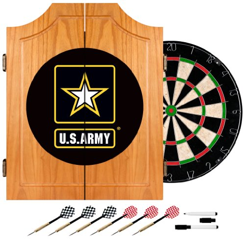 (United States Army Wood Dart Cabinet)