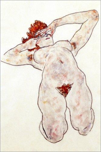 Posterlounge Acrylic print 20 x 30 cm: Act by Egon Schiele/Bridgeman Images