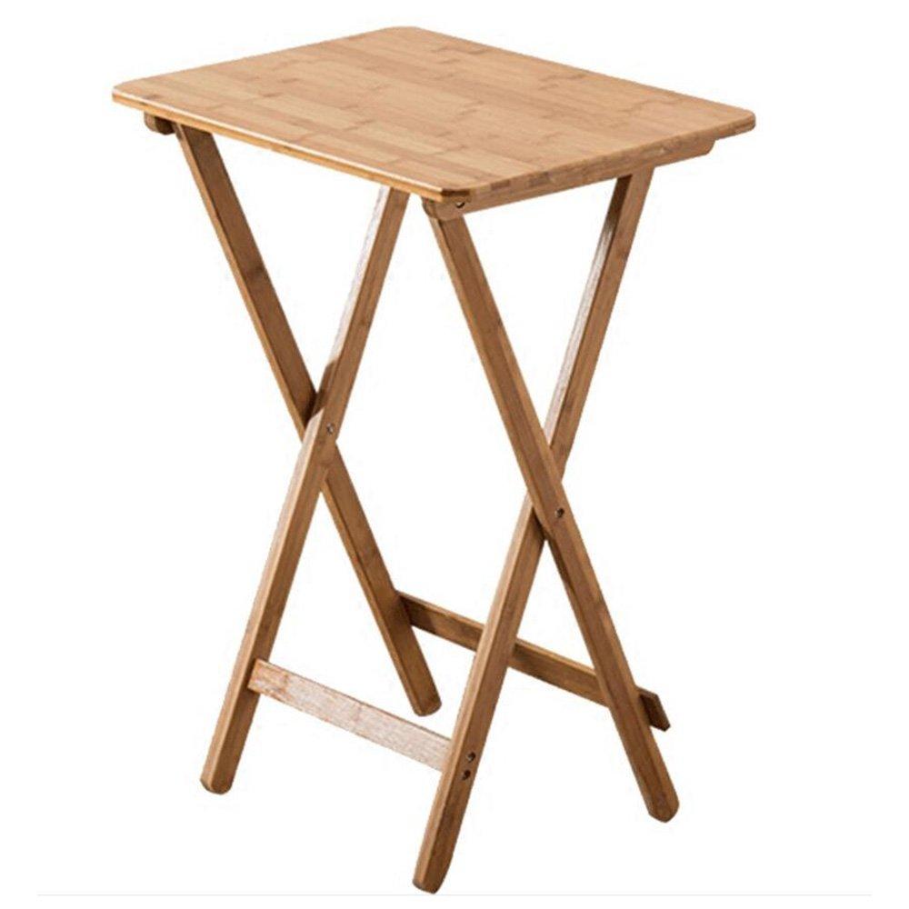 XIAOLIN 折りたたみテーブル正方形テーブルシンプルなスモールティーテーブルポータブルミールテーブルラップトップテーブル屋外ソリッドウッド2つのサイズ (サイズ さいず : Long 50*wide 36.5*high 62CM) B07D552VPS Long 50*wide 36.5*high 62CM Long 50*wide 36.5*high 62CM