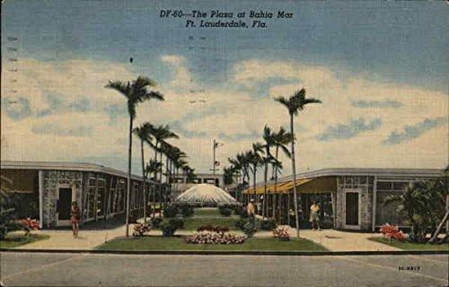 The Plaza at Bahai Mar Fort Lauderdale, Florida Original Vintage - Plaza Del Mar