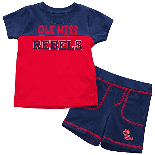 - Infants NCAA Ole Miss Rebels Infant T Shirt and Shorts Set Combo (Team Color) - 6-12 Months