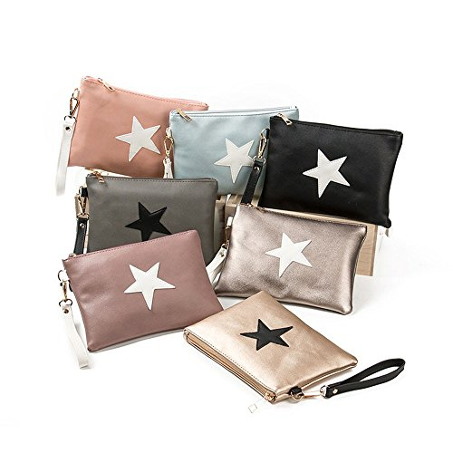 SHOBDW Holders Stars Envelope Zipper Wallet Womens Bags Women Purse A Coin Fashion Handbag Card Clutch wqUBca7E