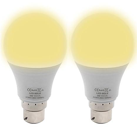 Iluminación Bombilla LED de la casa del bulbo - GreeSuit 2-Pack 9W Cálida luz