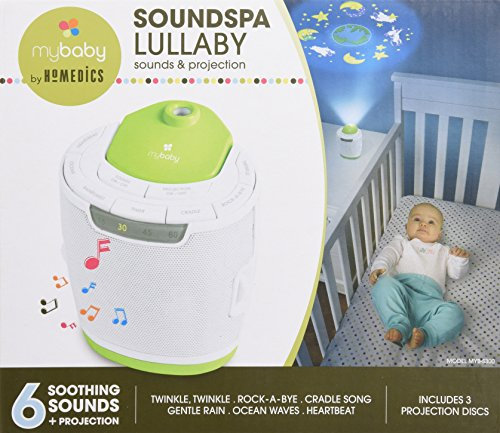 MyBaby by HoMedics: MyBaby SoundSpa Lullaby Sound Machine and Image Projector with 6 sounds and Auto-off Timer 2