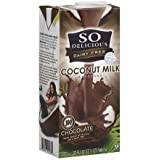 So Delicious Dairy Free Chocolate Coconut Milk Beverage, 32 oz (Pack of 12)