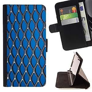 Momo Phone Case / Flip Funda de Cuero Case Cover - metall setka fon - Samsung Galaxy S5 Mini, SM-G800
