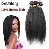 Brazilian Virgin Hair Kinky Straight 3Bundles 100% Human Hair Brazillian Yaki Straight Hair Brazilian Virgin Hair Coarse Yaki 28x30x30