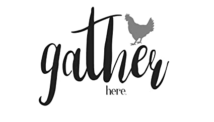 Country Rustic Rooster Gather Here Farmhouse Mylar Stencil 85 X 115
