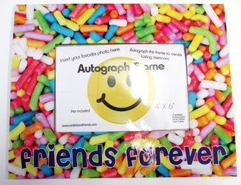 (Bunk Junk Sprinkle Friends Forever Autograph Picture Frame)