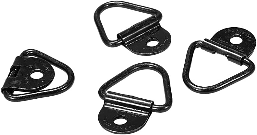 top-jjxkj 8 Pcs Tie Down Anchors Cargo Securing Anchors Replacing 2 Inch Diameter V-Ring Bolton for Trailers Trucks Warehouses
