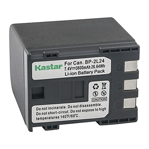 Kastar Battery Replacement for Canon BP-2L12 BP-2L13 BP-2L14 BP-2L24H and FV500, HG10, HV20, HV30, iVIS DC300, iVIS HG10, iVIS HV30, IXY DV3, DV5, DVM3, VIXIA HG10,HV30, HV40, FVM, MD, MV, MVX, Optura