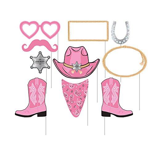 10 Piece Assorted Photo Bandana Cowgirl