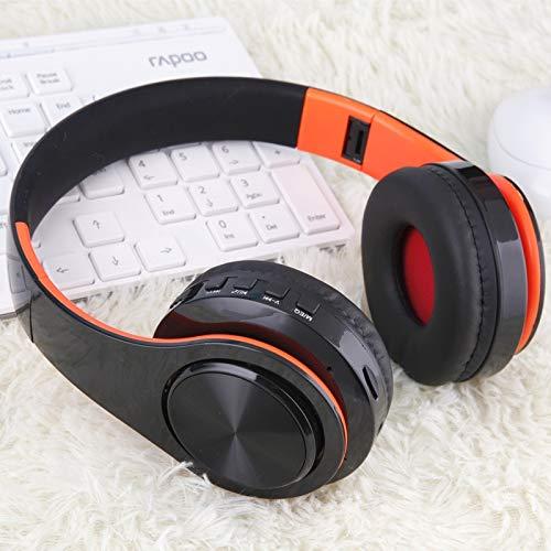 - QYYDLYEJ Bluetooth Headphones Earphone Wireless Headphone with Microphone Low Bass Headset Earphones for Computer Phone Sport Black Orange