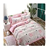 DECORATE Bedding Set,Flat Sheet,Fitted Sheet-Aloe Cotton-Includes Comforter,Cool & Breathable-Ins Style,Nordic Style