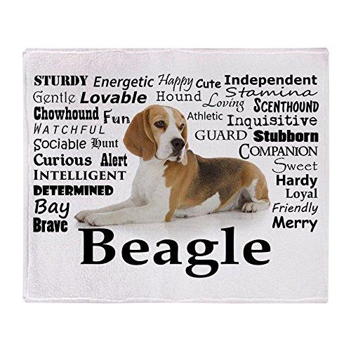 Beagle Fleece - CafePress Beagle Traits Soft Fleece Throw Blanket, 50