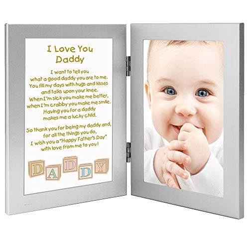 Poetry Gifts Daddy Father's Day Frame, Gift for Daddy from Son or Daughter - Add Photo (A Good Love Poem For A Girl)