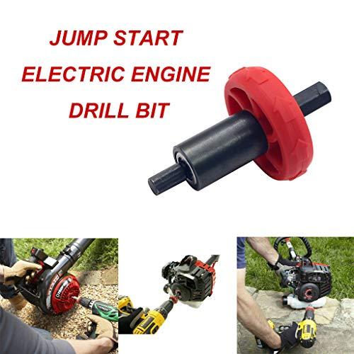 Hanesy JumpStart Electric Engine Drill Bit Adapter, Motor Starter Lawn Mower Starter Diesel Starter Adapter For Troy-Bilt Plug Button, Other Handheld Equipment