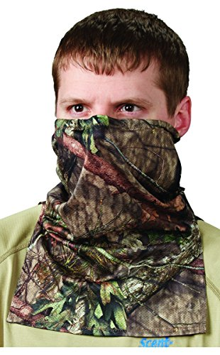 Hunters Specialties Spandex Camo - Hunters Specialties Scent-A-Way Lightweight Neck Gaiter, Silver Mossy Oak Break-Up Country Camo
