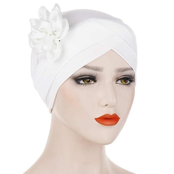 LOPILY Cancer Turbante Quimioterapia para Mujeres Elegante La Flor ...