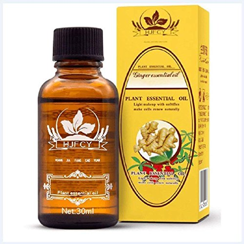 Maxbeauty Lymphatic Drainage Ginger Oil,Plant Essential Oil,Light Make Up with Sfttflex Make Renew Naturally [ 100% PURE Natural ] 30ml