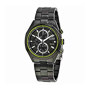 Citizen HTM Black Dial Black Ion-plated Mens Watch CA0435-51E
