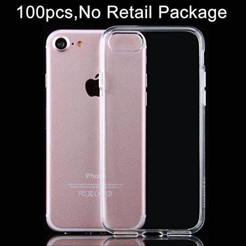 Mobile protection 100 PCS HAWEEL para el iPhone 7 Caja protectora TPU transparente suave ( Color : Transparent ) Transparent