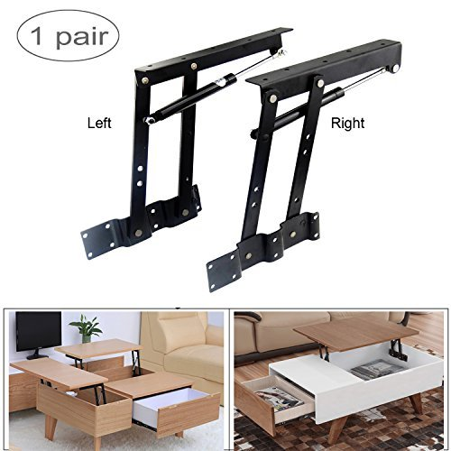 Sauton Sauton 1pair Folding Lift up Top Table Mechanism Hardware Fitting Hinge Spring Standing Desk Frame price tips cheap