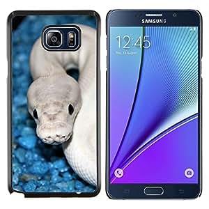 All Phone Most Case / Oferta Especial Duro Teléfono Inteligente PC Cáscara Funda Cubierta de proteccion Caso / Hard Case Samsung Galaxy Note5 5th N9200 // Snake Blue White Cobra White Venom