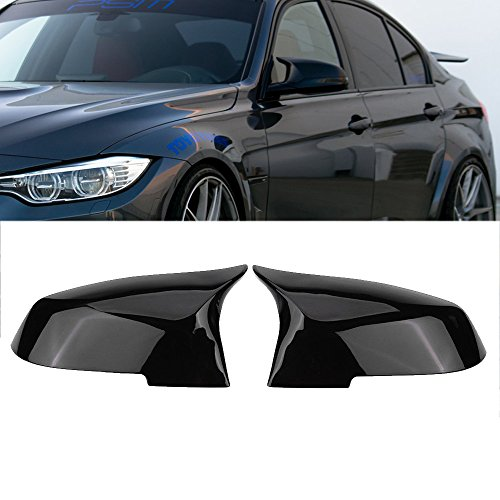 Ricoy For BMW F20 F21 F87 M2 F23 F30 F36 X1 E84 Gloss Black Side Mirror Cover Cap Rearview -M4 Style(Pack of 2)
